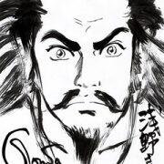 劉賢がサイン会で描いてもらった王欣太さん直筆の劉備のイラスト